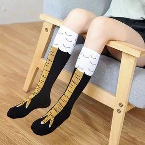 Accessories - New!!! Chicken Knee High Socks